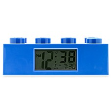 image of LEGO® Brick Alarm Clock in Blue