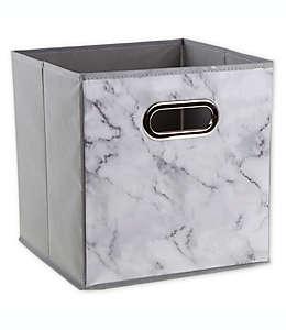 Contenedor de cartón plegable Relaxed Living® de 27.94 cm color blanco marmoleado