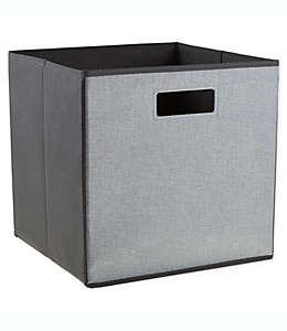 .ORG Flax Contenedor cuadrado plegable de 33.02 cm en gris claro