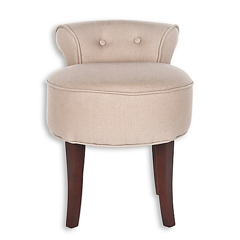 Safavieh Georgia Vanity Stool in Taupe