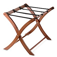 image of Solid Wood Luggage Rack in Walnut
