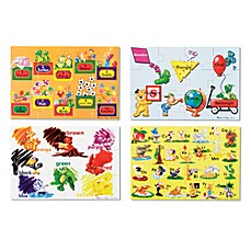 image of Melissa & Doug® Beginning Skills Floor Puzzles (Set of 4)