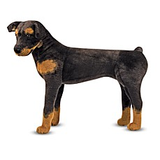 image of melissa u0026 doug rottweiler dog giant stuffed animal