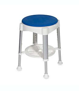 Drive Medical Banco para regadera con asiento acolchado giratorio en azul