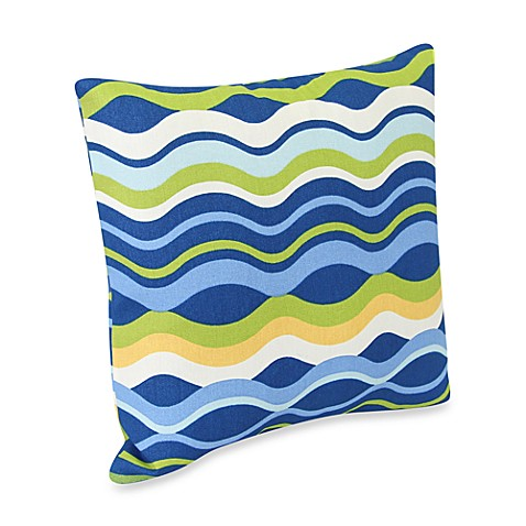 Square Outdoor Throw Pillow in Variations Poolside