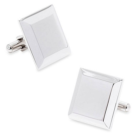 Stainless Steel Engravable Staged Cufflinks