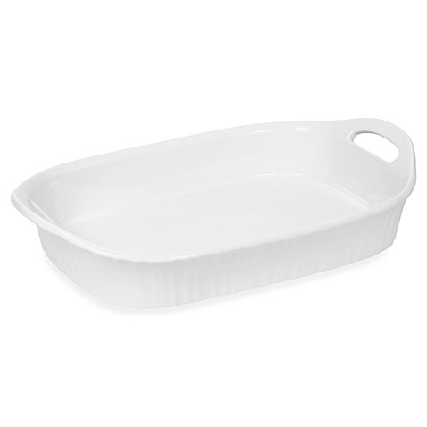 CorningWare® French White® III 3-Quart Oblong Casserole Dish