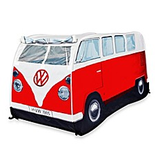 image of VW Campervan Children's Pop-Up Play Tent in Red