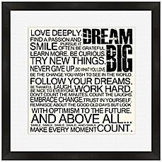 image of Dream Big Framed Wall Art