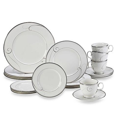 Noritake\u0026reg; Platinum Wave 20-Piece Dinnerware Set  sc 1 st  Bed Bath \u0026 Beyond & Noritake® Platinum Wave 20-Piece Dinnerware Set - Bed Bath \u0026 Beyond