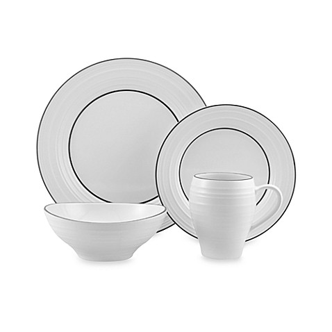 Mikasa® Swirl Banded 4-Piece Place Setting