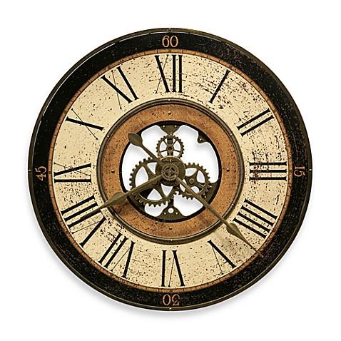 Howard Miller Brass Works 32 Inch Gallery Wall Clock Bed