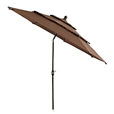 10 foot round triple vent aluminum umbrella - Patio Umbrella