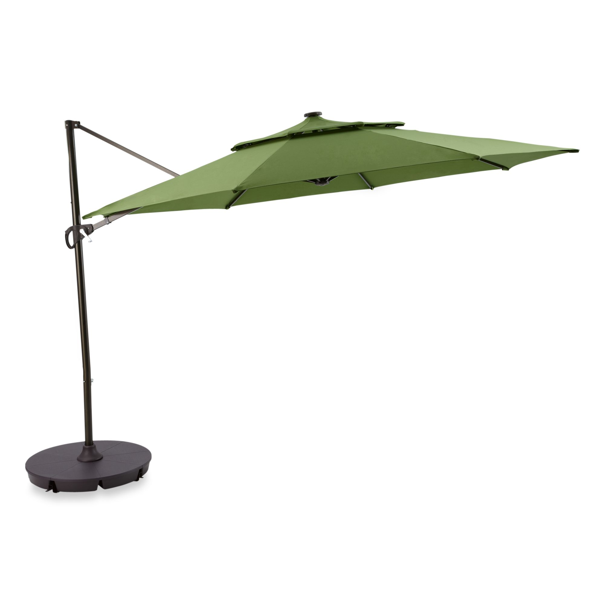 11 Foot Ft Round Umbrella Cantilever Tilting Offset Solar