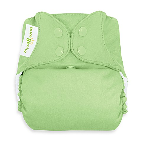 bumGenius™ Freetime Cloth Diaper with Snap Closure in Grasshopper