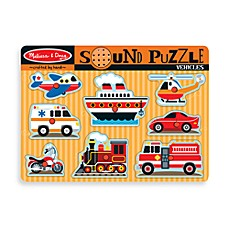 image of Melissa & Doug® Vehicles Sound Puzzle