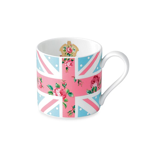 Buy royal albert vintage union jack mug in cheeky pink for Pink union jack bedding