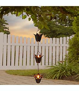 Velas de té solares en forma de flor en cobre