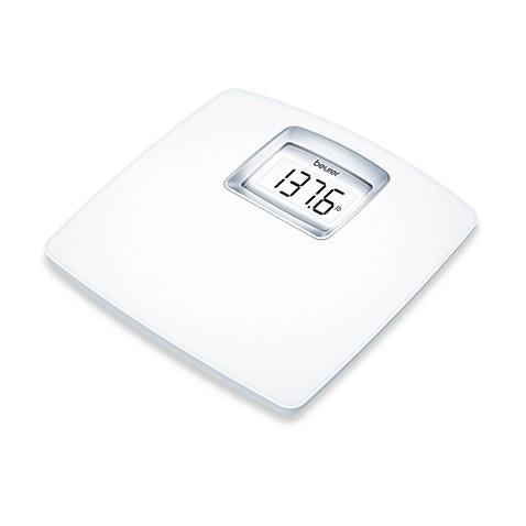 beurer white lcd digital bathroom scale - bed bath & beyond