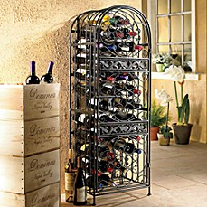 image of wine enthusiast renaissance wrought iron wine jail