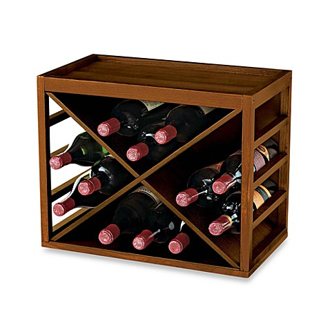 12-Bottle X-Cube Wood Wine Rack