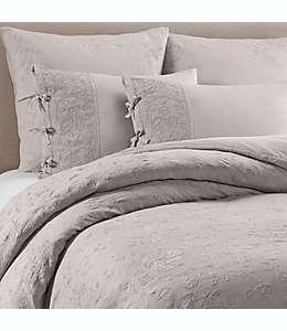 Wamsutta® Vintage Funda para edredón queen con bordado floral en gris niebla