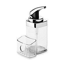 image of simplehuman® 22-Fluid Ounce Square Push Dish Soap Pump with Caddy