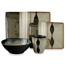 image of Sango Prelude Black 16-Piece Dinnerware Set