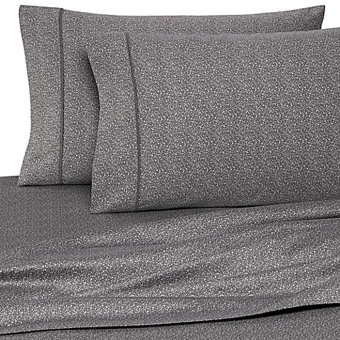 Wamsutta® 400 Thread Count Pebble Printed Queen Sheet Set in Grey