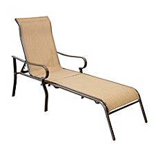 image of hawthorne oversized adjustable sling chaise lounge
