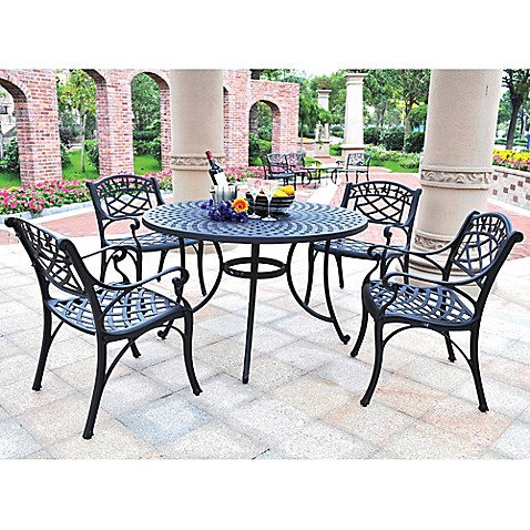 Crosley Sedona 5-Piece Outdoor Dining Set with Low Back Chairs