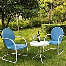 image of Crosley Griffith 3-Piece Metal Outdoor Seating Set