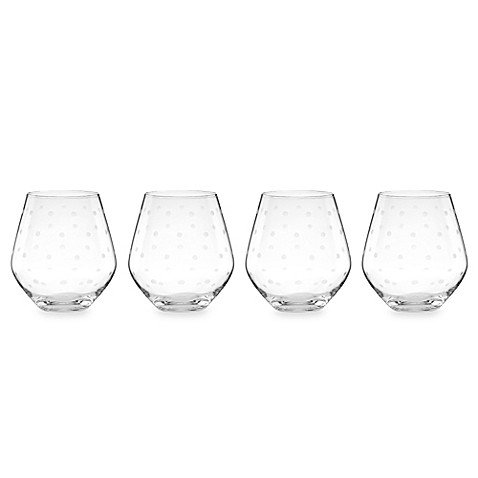 kate spade new york Larabee Dot Stemless Red Wine Glass (Set of 4)