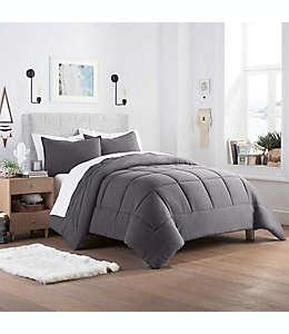 Set de edredón king de poliéster UGG® Devon color gris carbón