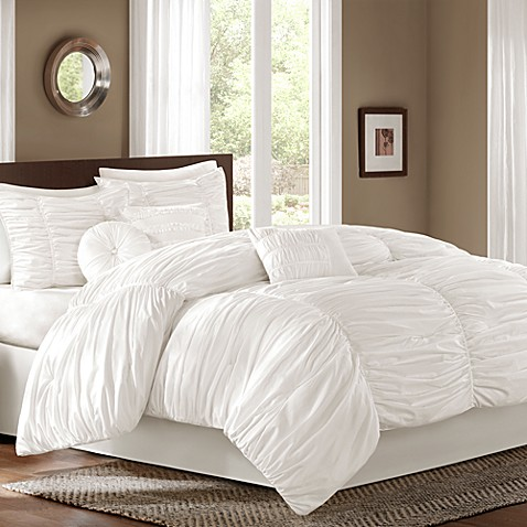 Sidney 6-7-Piece Comforter Set in White