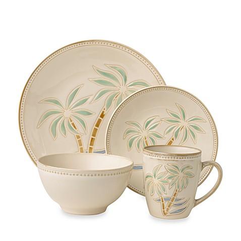 Everyday Palm 16-Piece Dinnerware Set  sc 1 st  Bed Bath \u0026 Beyond & Everyday Palm 16-Piece Dinnerware Set - Bed Bath \u0026 Beyond