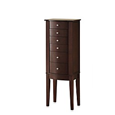 image of Powell Jewelry Armoire in Merlot