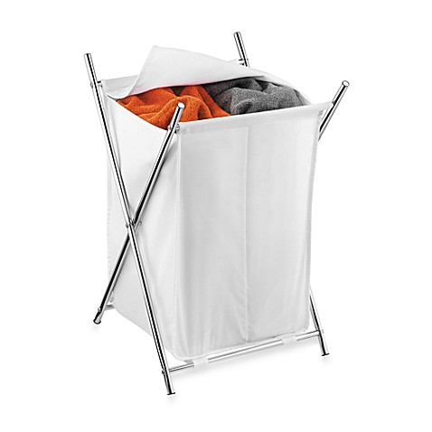 Honey-Can-Do® Folding X-Frame Double Hamper in Chrome
