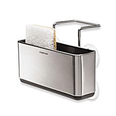 image of simplehuman® Slim Stainless Steel Sink Organizer
