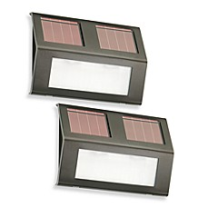 image of solar step lights set of 2 bed bath and beyond lighting