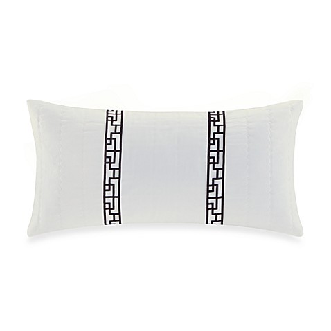 Buy Natori 174 Ming Fretwork Embroidered Oblong Toss Pillow