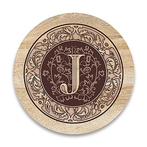 monogram letter j coasters set of 4 bed bath beyond. Black Bedroom Furniture Sets. Home Design Ideas