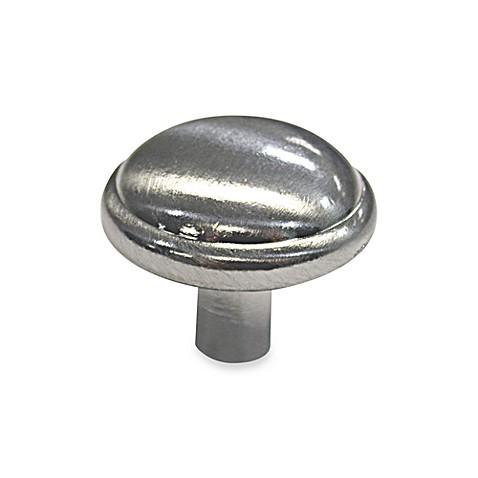 Buy richelieu 10 pack dome metal knobs in brushed nickel for Bathroom knobs brushed nickel