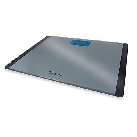 Detectou0026trade; Wide Body Platform Glass Digital Bathroom Scale