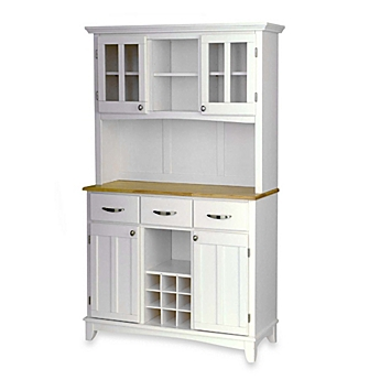 image of Home Styles Natural Wood Top Large Buffet Server with Hutch. Sideboards   Dining Room Buffets  Buffet Servers and Cabinets