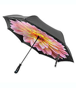 Paraguas invertido BetterBrella™ con estampado floral Dahlia