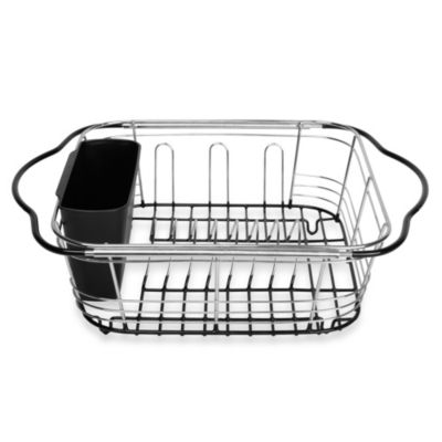 Over The Sink 3 In 1 Expandable Dish Rack With Integrated Handles