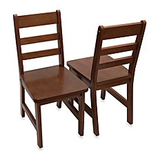 image of Lipper International Child's Chairs in Walnut (Set of 2)