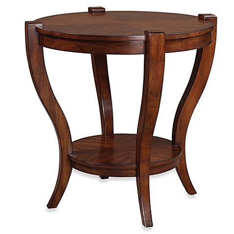 Uttermost Bergman Wood Round End Table