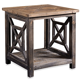 Image Of Uttermost Spiro Reclaimed Wood End Table